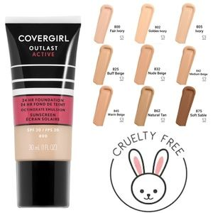 💄4/$15 NWT COVERGIRL Outlast Active Foundation